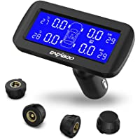 Cacagoo Wireless TPMS Tire Pressure Monitoring System (4 External Sensors)