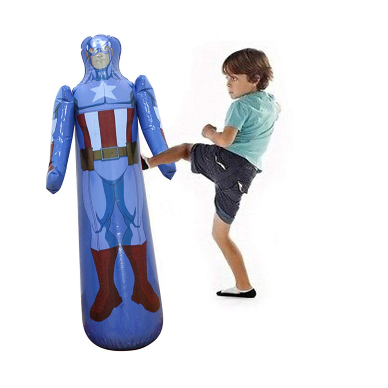 当季大流行 パンチングバッグ キッズ スパイダーマン 空気注入式トレーニングバッグ キッズ 子供とティーンエイジャー用 ブルー B07G7ZCBBW スパイダーマン B07G7ZCBBW, ハナキューチャン:3a21a5fa --- a0267596.xsph.ru