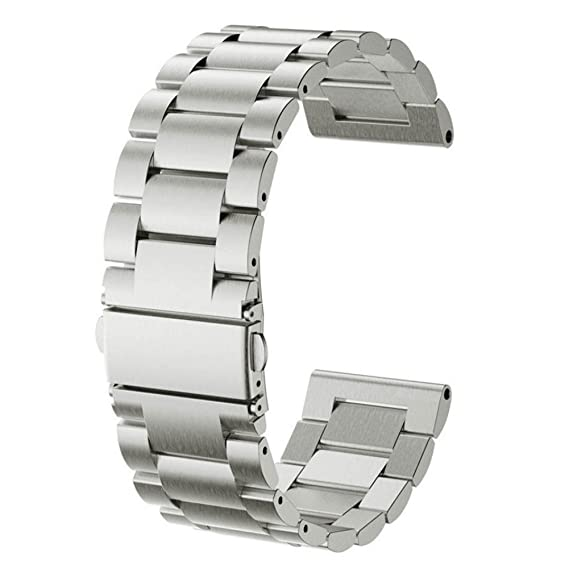 for ZeTime 44mm Bands Silver Large Small Metal,CIDETTY Replacement Watchbands 22mm Metal Stainless Steel Bracelet Strap for MyKronoz ZeTime 44mm ...