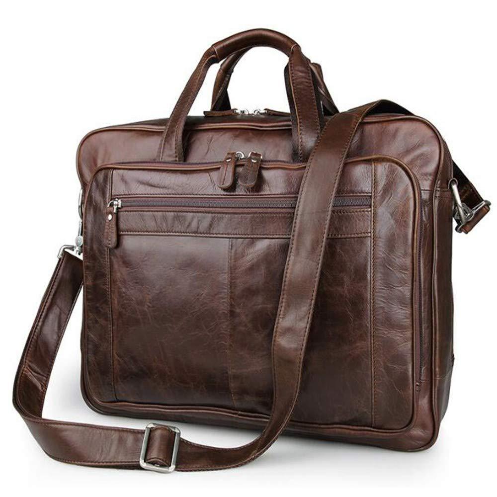 Lianaic Laptoptasche Herren Leder Geschäft Aktentasche Tote Laptop Gerade Cross Fashion Tasche