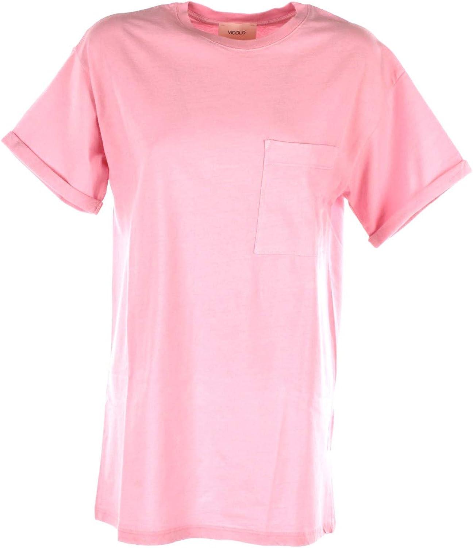VICOLO T-Shirt Donna Rosa Uc0076 Autunno Inverno 2018//19