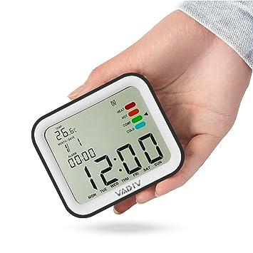 VADIV Reloj Despertador Viaje Digital Portatil, CL07 Función de Despertador de FILP, Alarmas Programables, Pantalla Retroiluminada, Fecha Indicador Confort ...