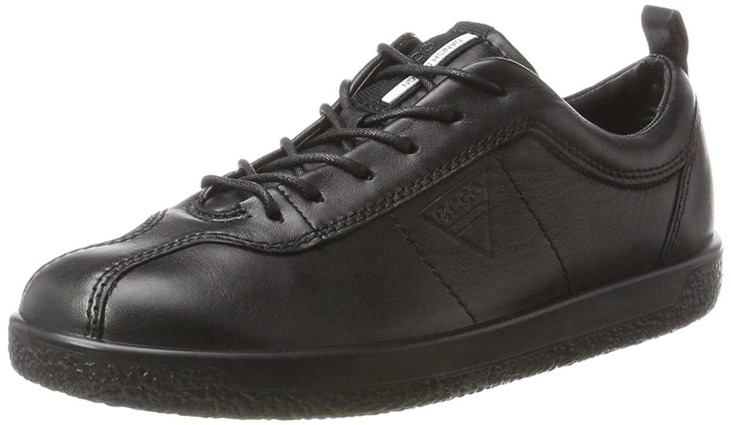 Black ECCO Womens Soft 1 Lace Sneakers