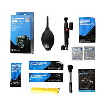smartli fetime vsgo profesional Sets de limpieza Cepillos de limpieza Toallitas Cámara Kit de limpieza para cámaras DSLR Canon Nikon Pentax Sony: Amazon.es: ...
