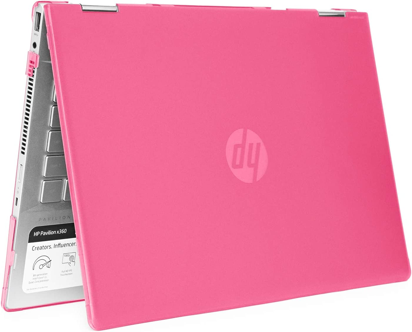 "mCover Hard Shell Case for 14"" HP Pavilion X360 14-CDxxxx / 14-DDxxxx Series Convertible 2-in-1 laptops (Pink)"