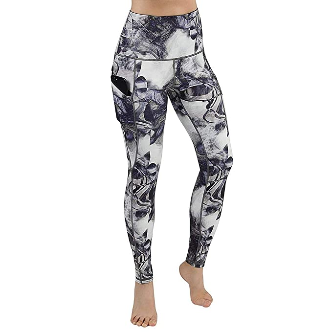 Mymyguoe Pantalones de chándal de Bolsillo Leggings Mujeres Yoga Pantalones Mallas Deportivos Leggings Deporte Cintura Alta Push up Pantalon para Running ...