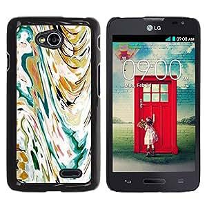 For LG Optimus L70 / LS620 / D325 / MS323 Case , Art Painting Watercolor Waves - Diseño Patrón Teléfono Caso Cubierta Case Bumper Duro Protección Case Cover Funda