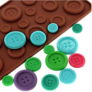 Anyana Silicone Chocolate Mold 3D Cute Button Shape Cake Decoration Tools moldes de silicona para fondant
