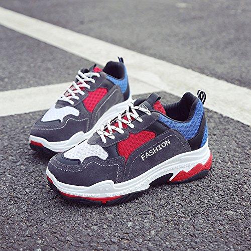 Zapatillas Running Zapatillas tamaño Deportes Deporte Zapatillas de Color de Rojo de Mujeres Deporte Mujeres 35 Las Ligera para de Amortiguación qrWYwxrRSn