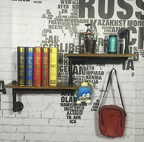 Tochange Industrial Style Pipe Wall Shelving Bookshelf