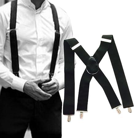 hunpta Camiseta de Tirantes, Brimarc MK Tools – Tirantes para Hombre Tirantes Negro 50 mm x Back Heavy Duty Biker Pantalones de Snowboard Negro Negro: Amazon.es: Hogar
