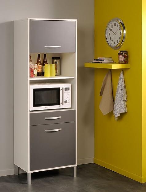küchenschrank opika 3 60x185x43 cm weiß grau schrank highboard
