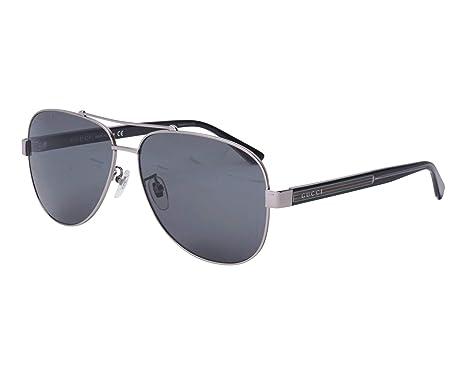 Amazon.com: Gafas de sol Gucci GG 0528 S- 007 RUTHENIUM/GRIS ...