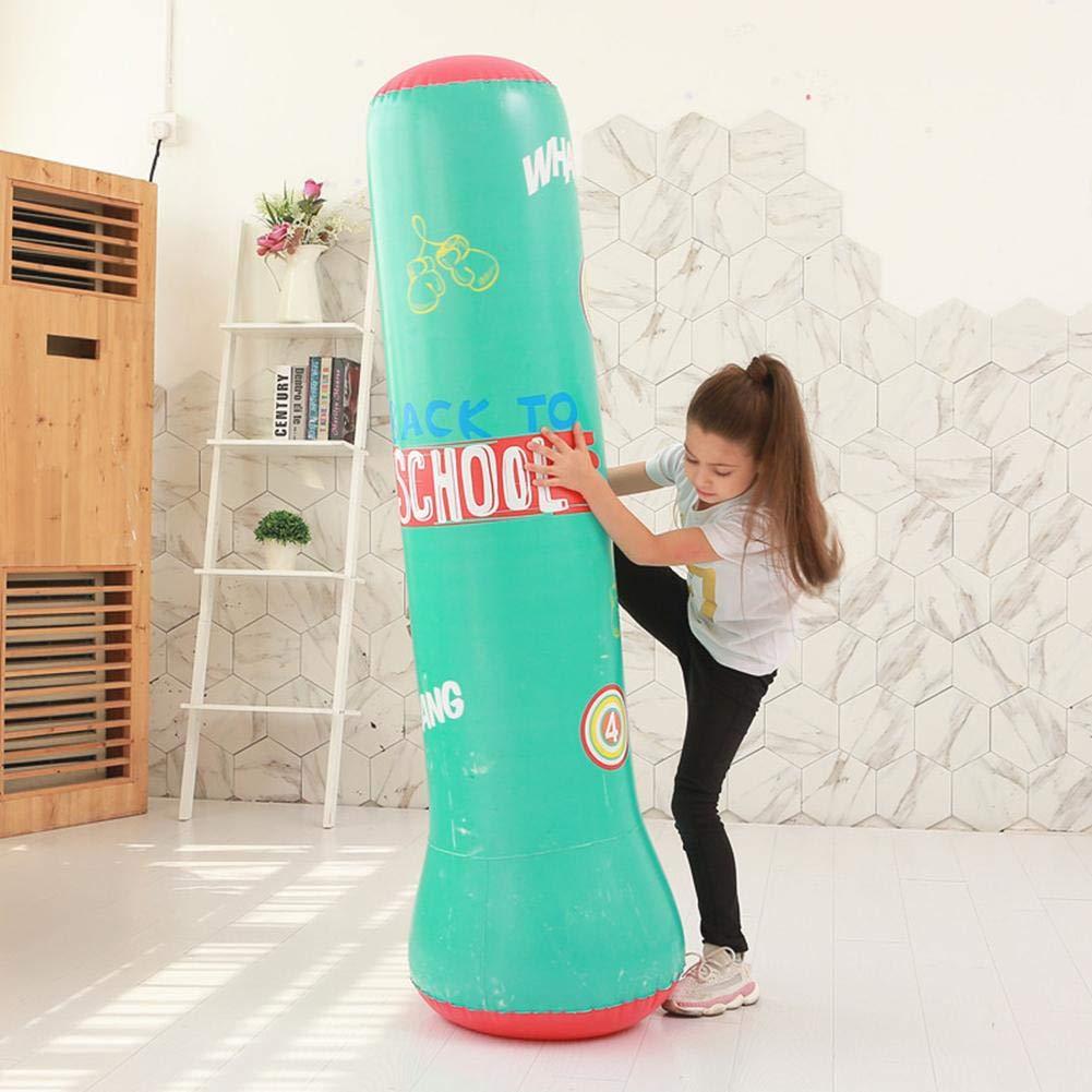 Boxe de Coup-de-pied Gonflable R/ésistant De Sacs De Sable 120CM//150cm Sac De Boxe Gonflable de Colonne Exercice De Forme Physique /Épaissie R/éduisant Sac de Formation Pour Des Enfants Dadultes