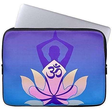 Vibrante Hue Om Lotus Yoga Pose Neopreno Funda para Portátil ...