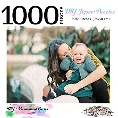Custom Photo Wooden Jigsaw Puzzle for Adults 1000 Pieces - Personalized Photo Funny Gifts Custom Puzzles from Photos for Kids Mother's Day DIY Gift Stay at Home Wedding Gifts Family Love Friends: Toys & Games