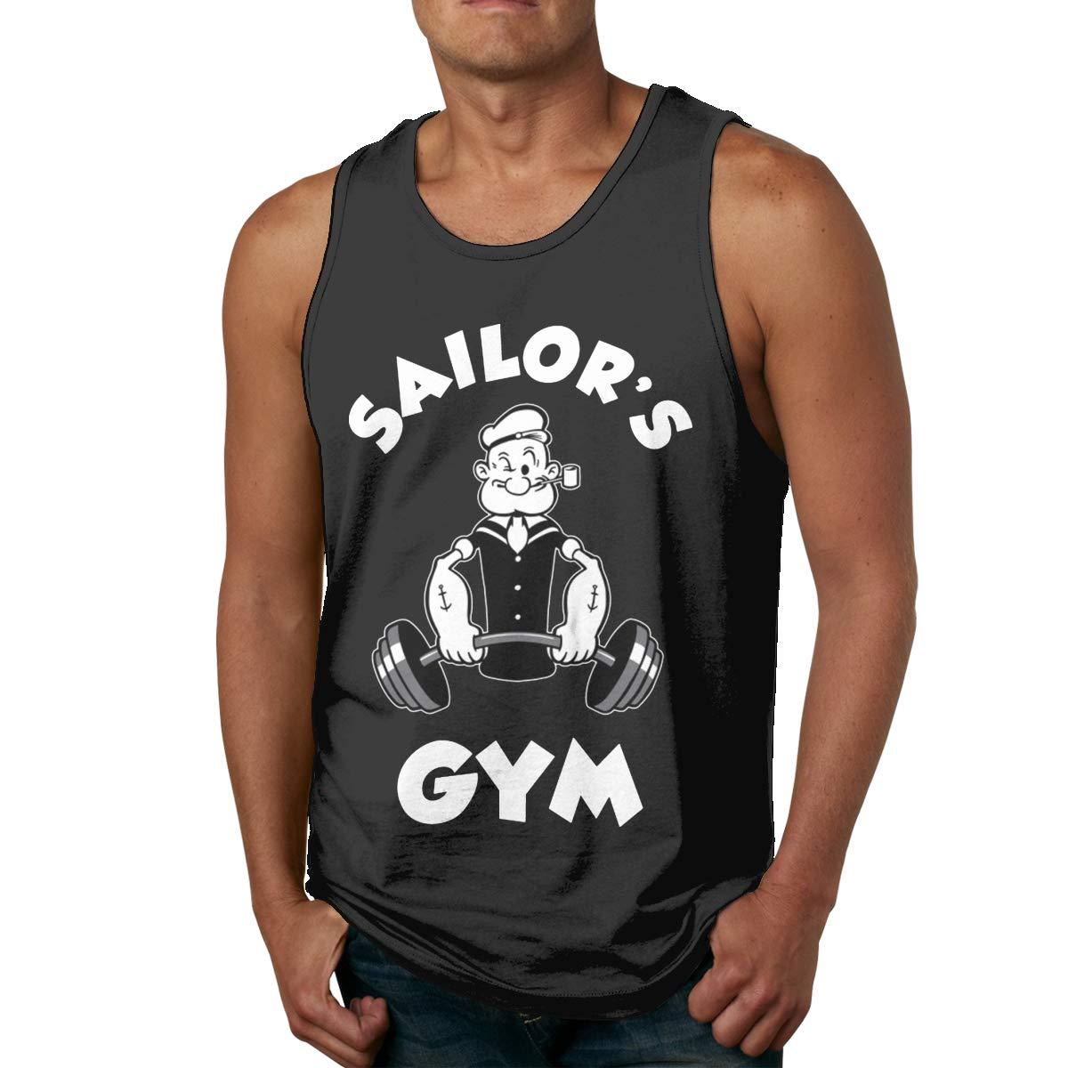 Kaddias Sailor S Gym Popeye S Tank Top Shirt Black