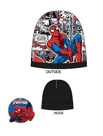 57e757d6d84 Marvel Official Kids Boys Spiderman Beanie Hat or Beanie Hat   Gloves 52cms  54cms  Amazon.co.uk  Clothing