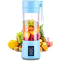 Portable 6 Blades in 3D Juicer Cup,Updated Version Rechargeable Juice Blender Magnetic Secure Switch Electric Fruit…