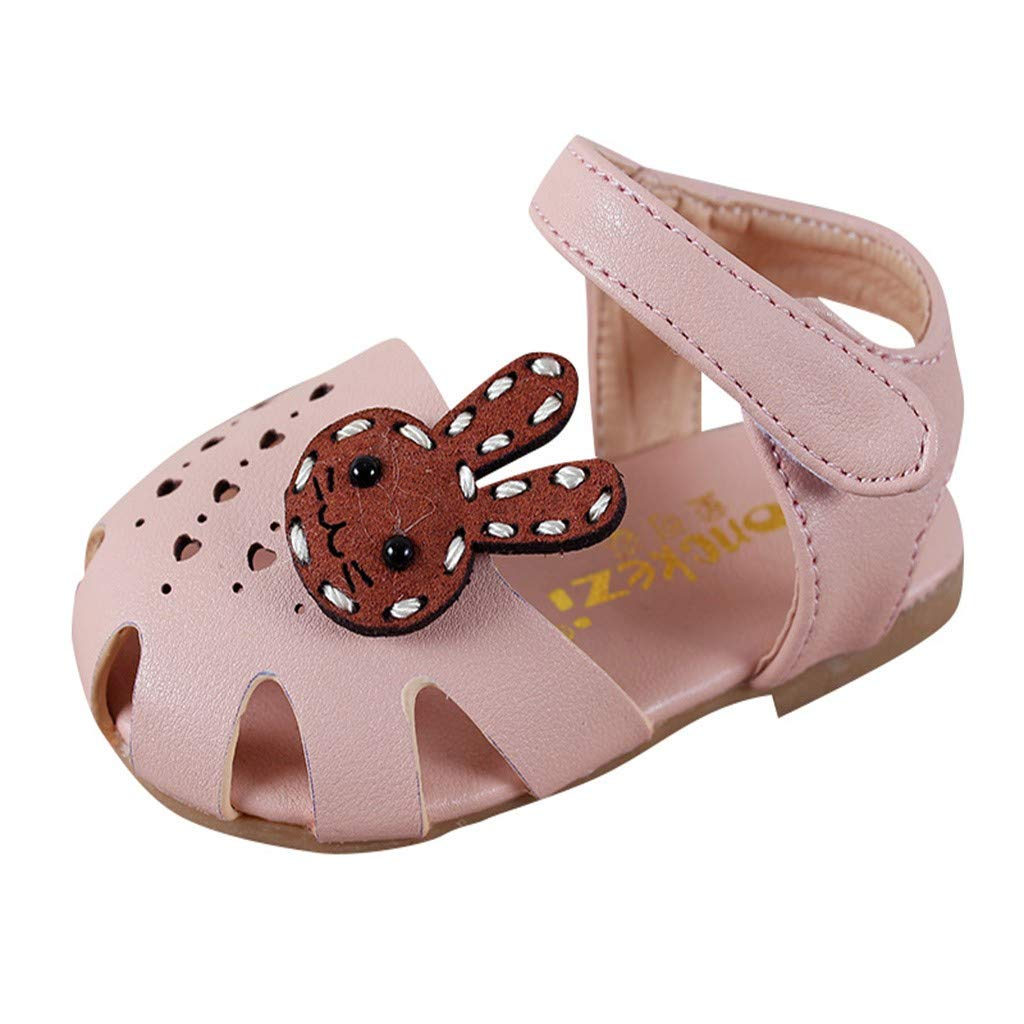Voberry Toddler Kids Girls Fashion Cartoon Leather Shoes Baby Princess Flat Sandals