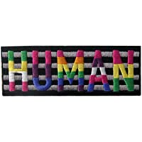 LGBT Human Retro Love Patch Embroidered Badge Iron On Sew On Emblem