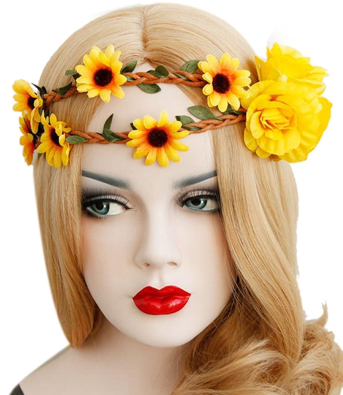 Gänseblümchen Haar Bands Hochzeit elastisch Blume Stirnbänder für Damen Mädchen
