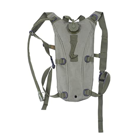 f565ad33f090 3L (100 Oz) Hydration Packs Tactical Bike Bicycle Camel Water Bladder Bag  Assault Backpack Camping Hiking Pouch Water Bag (Army Green)