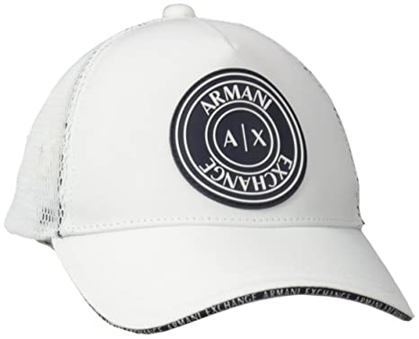ea40e27f5204d Armani Exchange Men s Circle Logo Mesh Baseball Hat