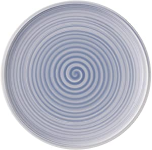 Artesano Nature Bleu Dinner Plate Set of 6 by Villeroy & Boch - Premium Porcelain - Made in Germany - Dishwasher and Microwave Safe - 10.5 Inches