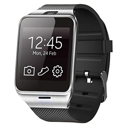 ASOON Smart Watch, Touch Screen Bluetooth Smart Wrist Watch Support SIM Card for Android Smartphones, Samsung, Galaxy Note, Nexus, HTC, Sony