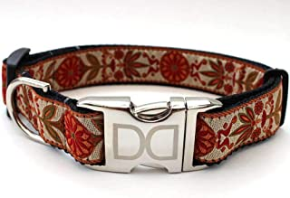 product image for Venice Custom Dog Collar in Ivory (Optional Matching Leash Available) M/L