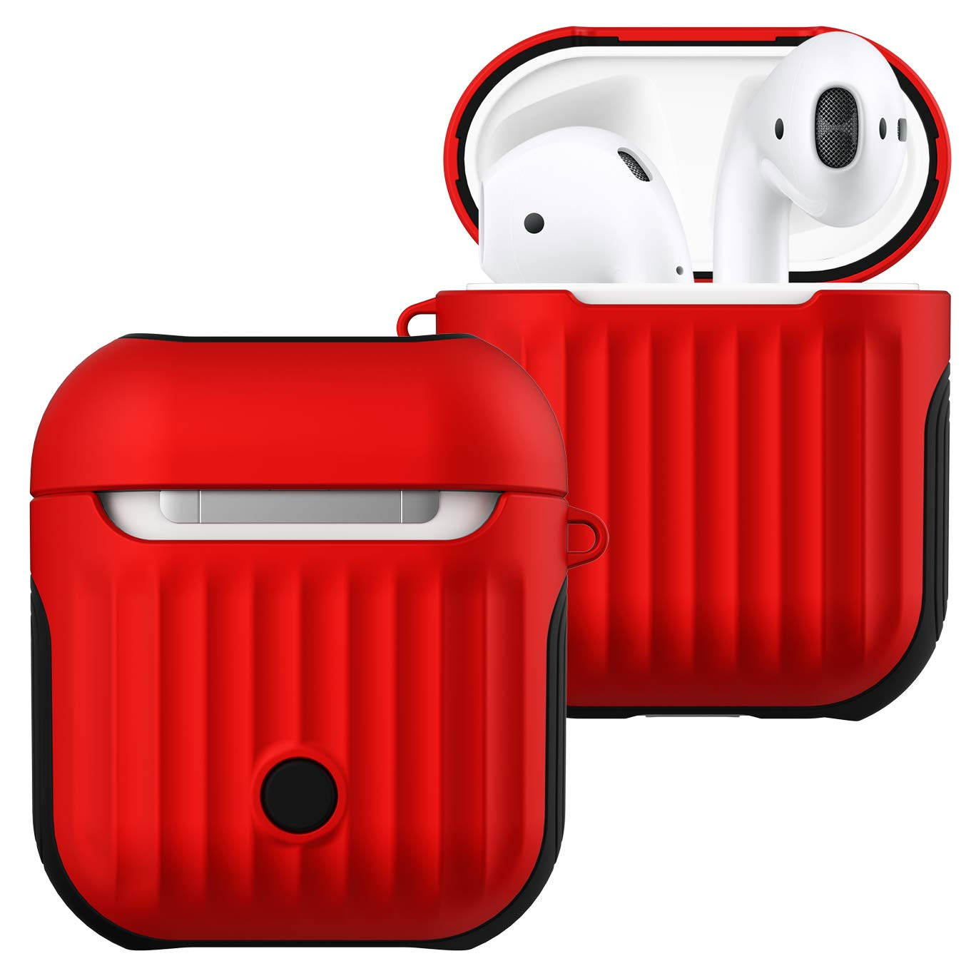 promo code aee75 1c347 AirPods Case Cover - Romozi AirPod Case with Lanyard, Compatible AirPods  2&1 Charging Case, Silicone + Hard Cover Full Protective AirPod Skins, ...