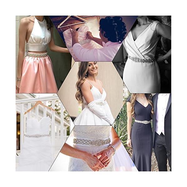 1 Yard Stunning Rhinestone Wedding Dress Bridal Belt Beaded Party Diamante Trim