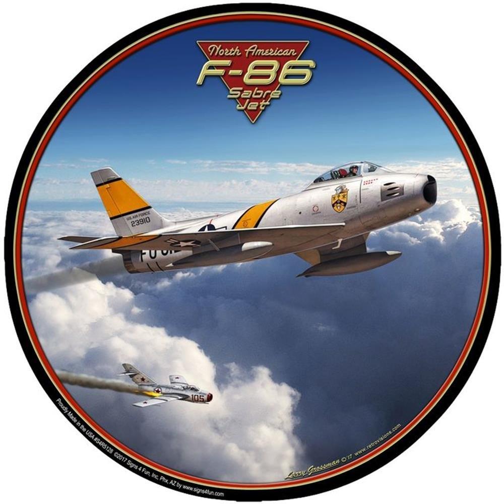 Signs 4 Fun S4R5128 F-86 Saber Jet Round Sign