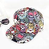Multicolor Ployester Adjustable New 2014 Summer Punk Style Print Designer Sun Hats