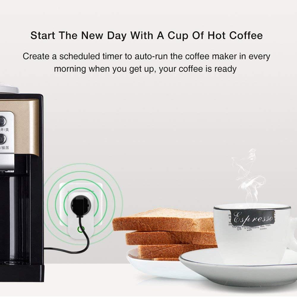 SONOFF S20 Smarte Steckdose Google Home und IFTTT 2 St/ück funktionieren mit  Alexa WLAN Steckdosen Echo Echo Dot Steuern Sie Ihre Ger/äte von /überall aus
