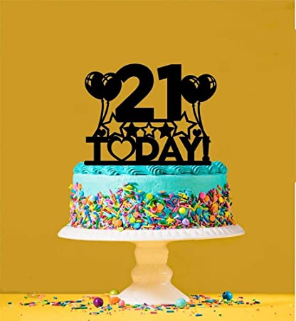 Strange Amazon Com 21St Birthday Cake Topper 21 Years Old Twenty Funny Birthday Cards Online Barepcheapnameinfo