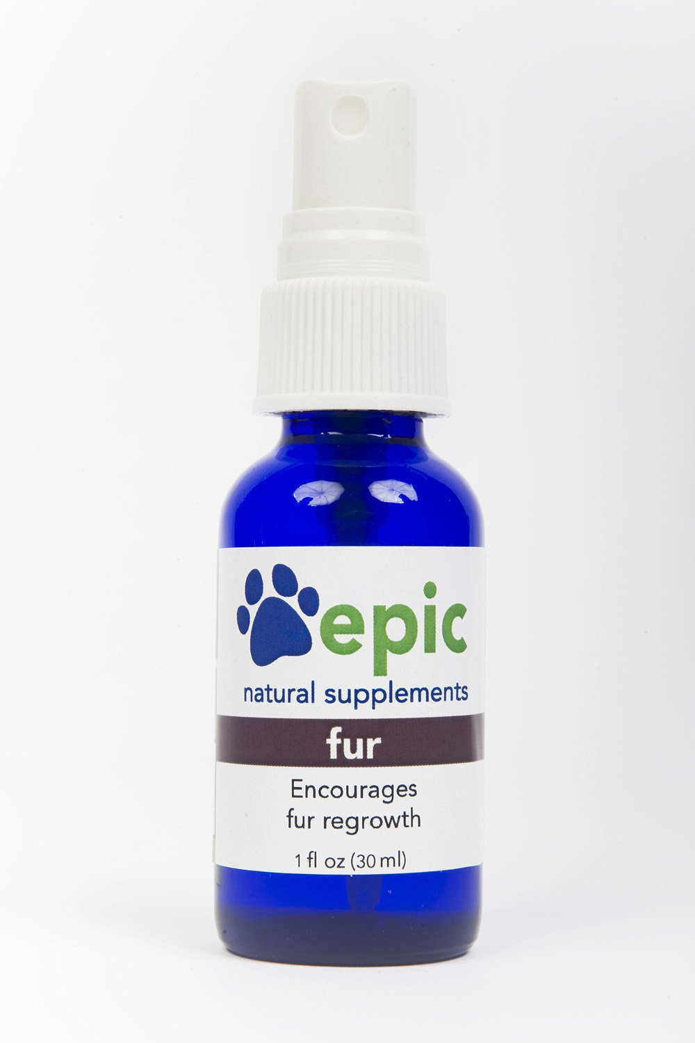 Fur - Natural, Electrolyte, Odorless Pet Supplement That Encourages Fur Regrowth (Spray, 1 ounce) by Epic Pet Health (Image #1)