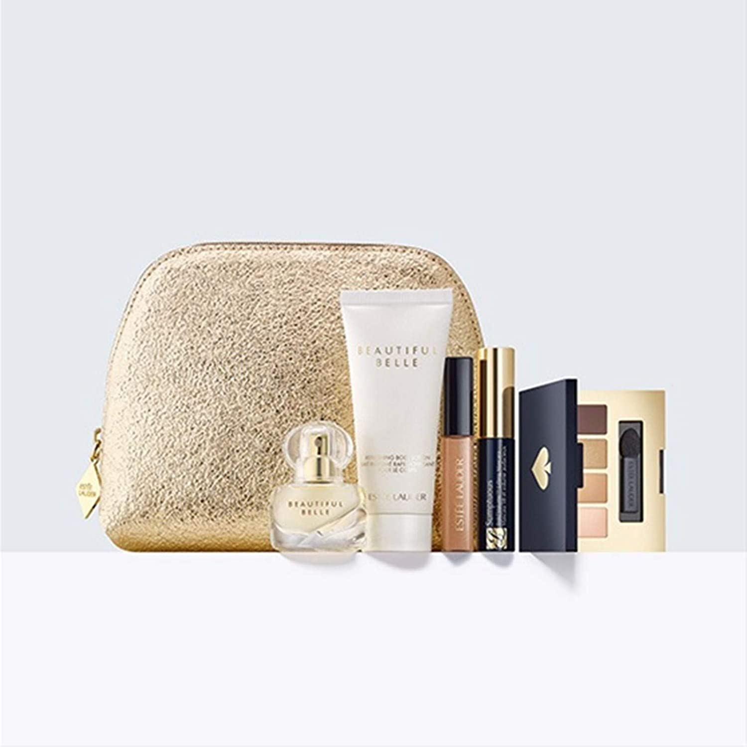 Estee Lauder 6 pc Beautiful Belle Eau de Parfum Purse Spray Travel Set