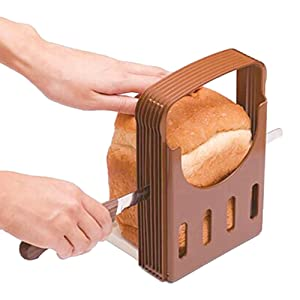 Sealive Bread Slicer Bread Machine Parts,Toast Bagel Loaf Sandwich Slicer Cutter Great for The Baker and Housewife, Foldable and Adjustable Home Kitchen Accessories, Easy to Use