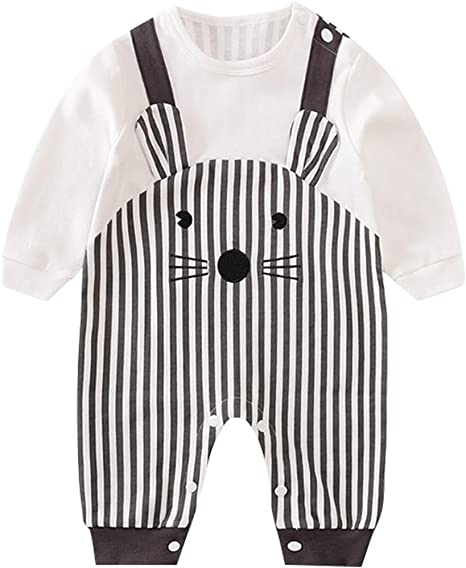 Bebé Mono de Manga Larga Mameluco de Algodón Peleles Infantil Body Lindo Pijama Ropa de Recien Nacido, 0-3 Meses: Amazon.es: Bebé