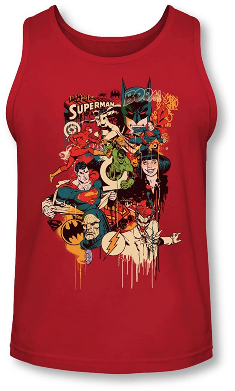 Dc - Mens Dripping Characters Tank-Top
