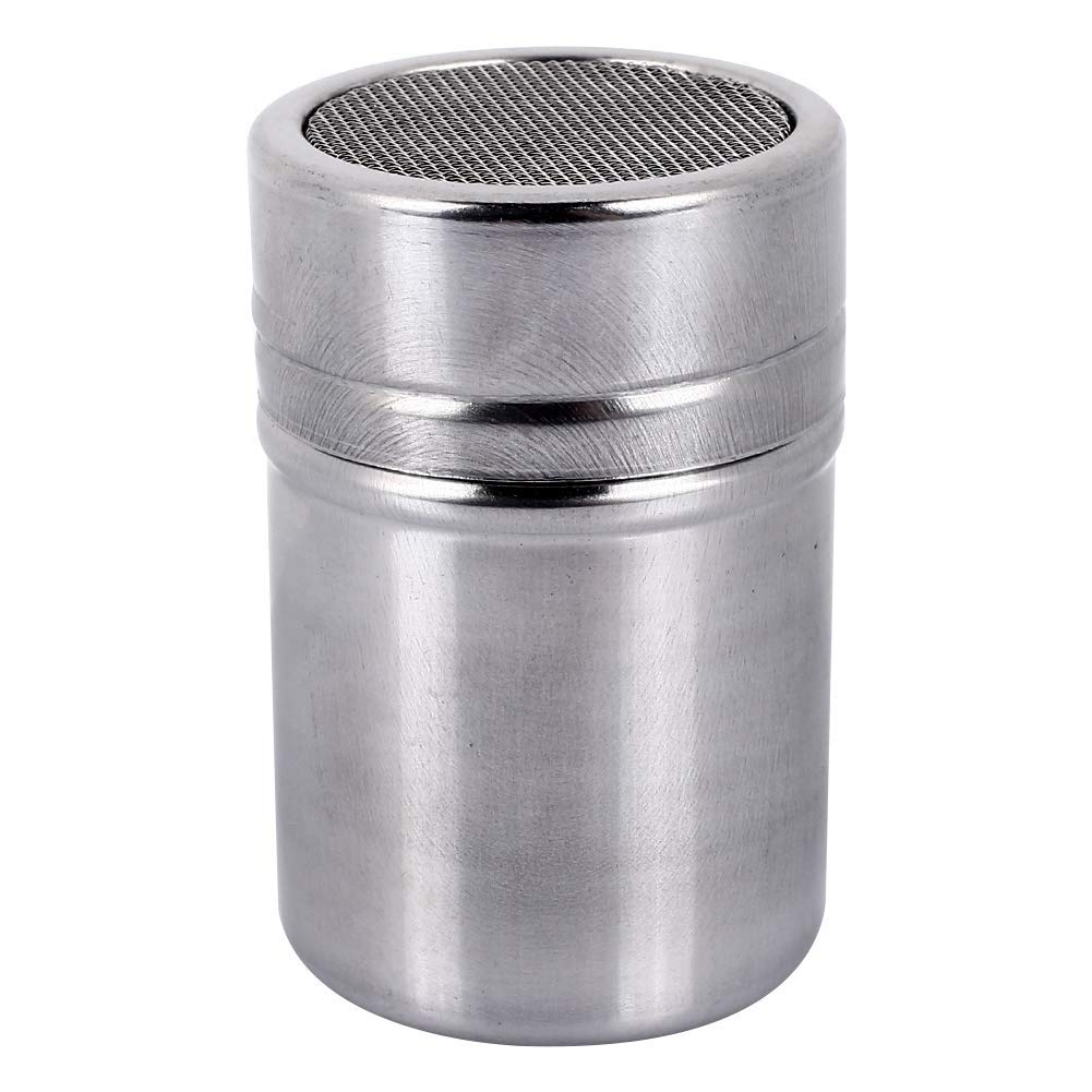 DJhjgfkjh Stainless Steel Strainer Portable Powder Shaker Mesh with Safe Stainless Steel BBQ Sugar (Color : -, Size : -)