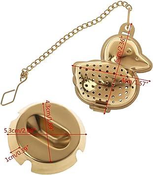 Fafalloagrron Infuseur en acier inoxydable en forme de canard Filtre /à feuilles en maille Filtre Boule /à th/é Accessoires dassaisonnement Outils de cuisine 2.36x1.57in Silver