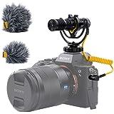 Deity V-Mic D4 Duo Dual-Capsule Micro Camera-Mount Shotgun Microphone, Dual Mono/Stereo Recording, Plug and Play Mic…
