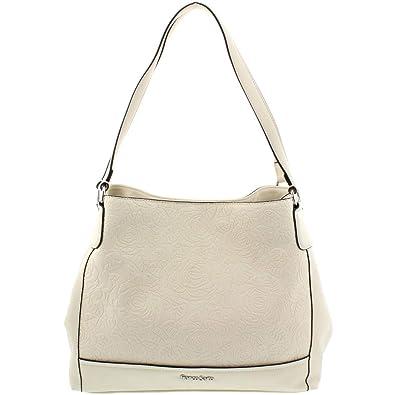 981443110f82 Franco Sarto Womens Alyse Embossed Faux Leather Shopper Handbag Ivory  Large  Handbags  Amazon.com
