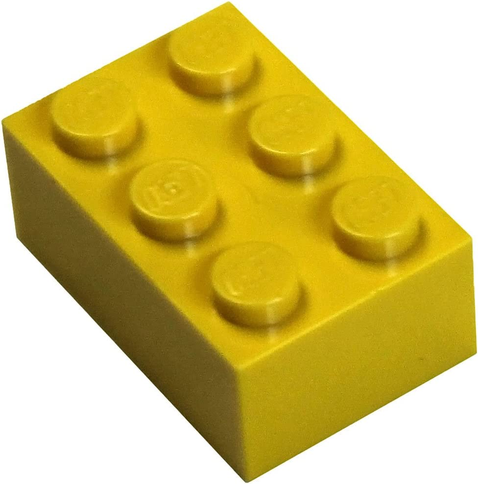 LEGO Parts and Pieces: Yellow (Bright Yellow) 2x3 Brick x100