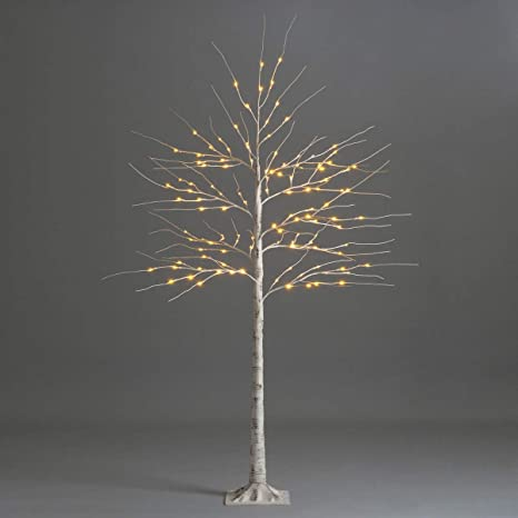 Warm White Light Plastic Sequins Twig Branch Birch Trees Lights USB Powered for Home Party Holiday Decoration 180cm