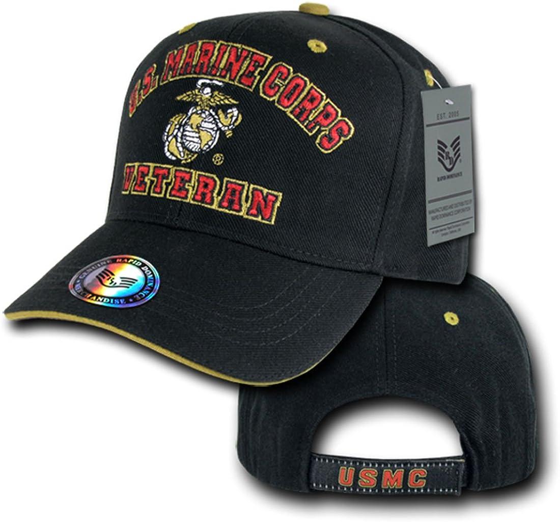 Rapid Dom Veteran US Military Branch Logo Baseball Caps VET2