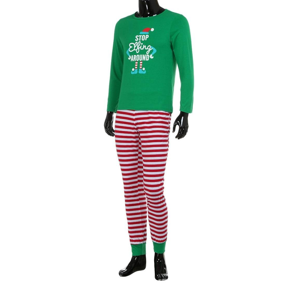 99efeb7f06 Amazon.com  Yunchuang Matching Family PJS Christmas Entire Family Jammies  Cotton Pajamas Sets Best Kids Sleepwear Xmas A6  Clothing
